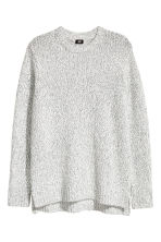 Knitted jumper - White/Grey marl - Men | H&M 2