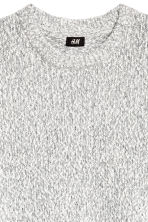 Knitted jumper - White/Grey marl - Men | H&M 3