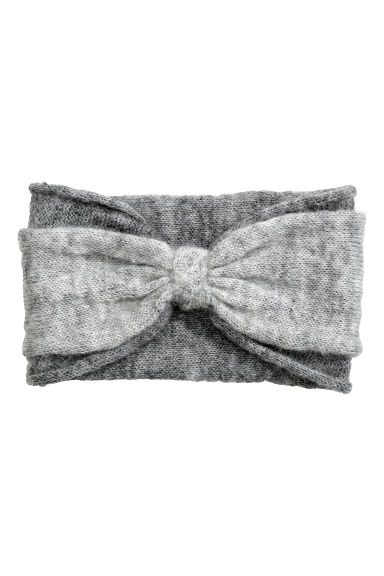 Mohair-blend headband - Grey - Ladies | H&M CN
