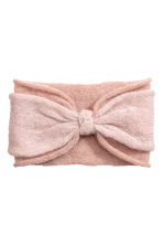 Mohair-blend headband - Powder pink - Ladies | H&M CN 1
