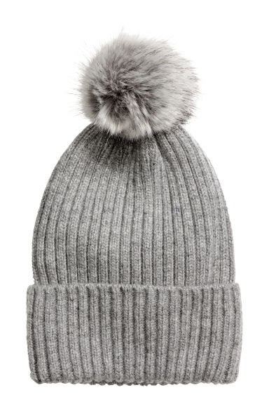 Ribbed hat - Grey - Ladies | H&M