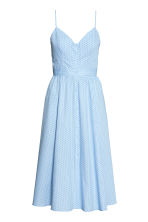 Cotton dress - Light blue/Spotted - Ladies | H&M CN 2
