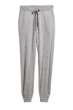 Cashmere-blend joggers - Grey marl - Ladies | H&M GB 2