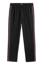 Wide side-striped trousers - Black - Men | H&M CN 2