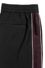 Wide side-striped trousers - Black - Men | H&M CN 3