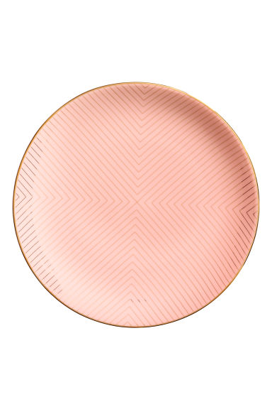 Patterned Porcelain Plate - Coral pink - Home All | H&M CA 1