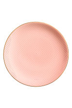 Patterned porcelain plate - Coral pink - Home All | H&M GB 1