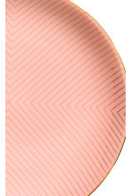 Patterned porcelain plate - Coral pink - Home All | H&M GB 2