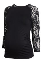 MAMA Jersey top with lace - Black - Ladies | H&M CN 2