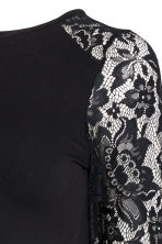 MAMA Jersey top with lace - Black - Ladies | H&M CN 3