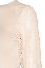 MAMA Jersey top with lace - Light beige - Ladies | H&M GB 3