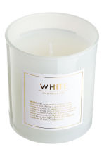 Scented candle in a glass jar - White/Cotton - Home All | H&M IE 3