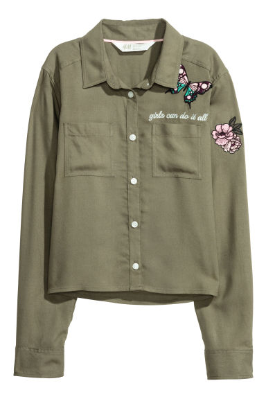 Short shirt - Khaki green - Kids | H&M GB