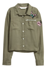 Short shirt - Khaki green -  | H&M 2