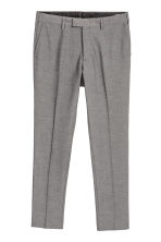 Suit trousers Skinny fit - Black/White marl - Men | H&M 2