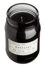 Scented Candle in Glass Jar - Black/Mahogany - Home All | H&M CA 2