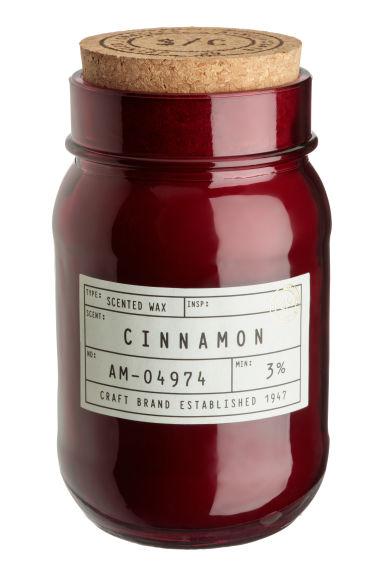 Bougie parfumée - Rouge foncé/cannelle - Home All | H&M FR