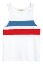 Printed vest top - White - Men | H&M 2