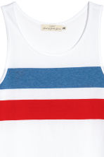 Printed vest top - White - Men | H&M 3
