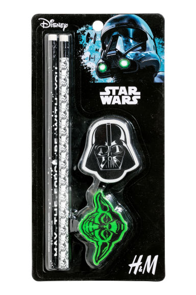Pencil set - Black/Star Wars - Kids | H&M 1