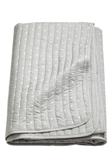 Quilted bedspread - Light grey -  | H&M CN