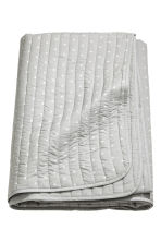 Quilted bedspread - Light grey - Home All | H&M CN 1