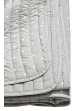 Quilted bedspread - Light grey - Home All | H&M CN 2