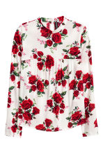 Patterned blouse - White/Floral - Ladies | H&M 2