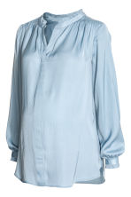 MAMA Jacquard-weave blouse - Light blue - Ladies | H&M 2