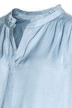 MAMA Jacquard-weave blouse - Light blue - Ladies | H&M 3