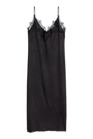 H&M+ Slip-on dress - Black - Ladies | H&M