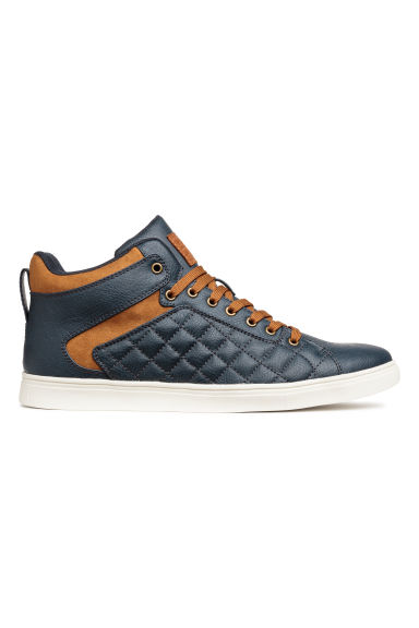 Hi-top trainers - Dark blue - Men | H&M