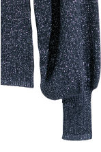 Glittery jumper - Dark blue/Glittery - Ladies | H&M 3