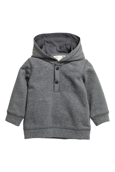 Cotton hooded top Model