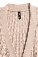 Rib-knit cardigan - Light beige - Ladies | H&M 3