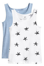 2-pack jersey vest tops - White/Stars - Kids | H&M 2