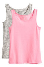 Canotte in jersey, 2 pz - Rosa -  | H&M IT 2