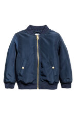 Padded bomber jacket - Dark blue -  | H&M CN 2