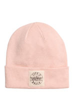 Fine-knit hat - Powder pink - Ladies | H&M CN 1