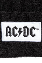 Fine-knit hat - Black/AC/DC - Ladies | H&M 2