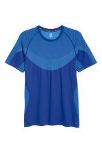 Seamless loopshirt - Helderblauw - HEREN | H&M BE 2