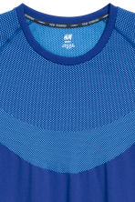 Seamless loopshirt - Helderblauw - HEREN | H&M BE 4