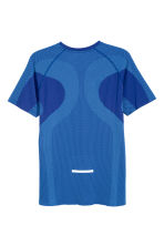 Seamless running top - Bright blue - Men | H&M CN 3