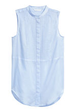 Sleeveless blouse - Light blue - Ladies | H&M 2