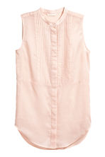 Sleeveless blouse - Light apricot - Ladies | H&M CN 2