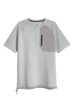 Short-sleeved sports top - Grey marl - Men | H&M 2