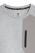 Short-sleeved sports top - Grey marl - Men | H&M 3