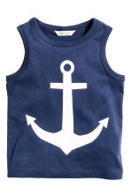 Vest top with a print motif - Dark blue/Anchor - Kids | H&M 2