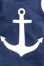 Vest top with a print motif - Dark blue/Anchor - Kids | H&M 3