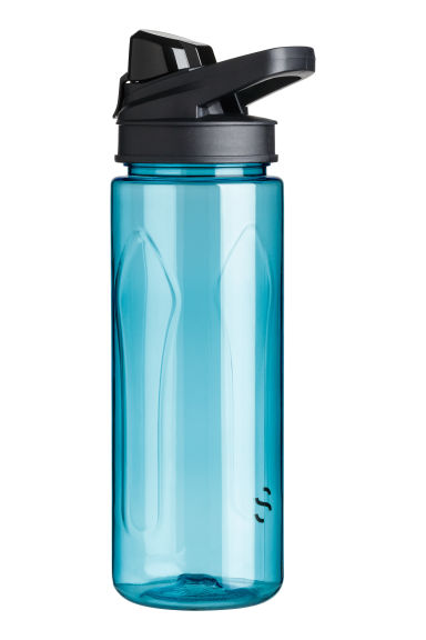 Water bottle with a lid - Turquoise - Men | H&M 1